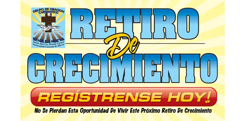Retiro De Crecimiento Registracion Banner
